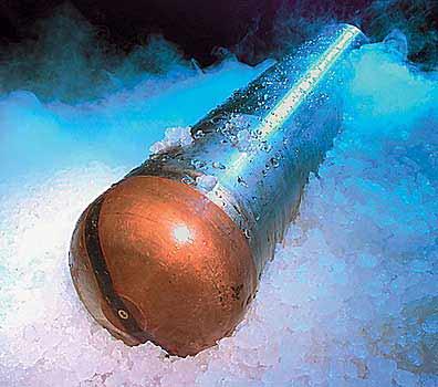 Нижняя часть криобота упала на дно подледникового водоема (по материалам журнала